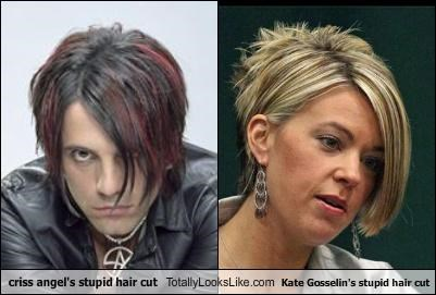 Criss Angel,hair,hair cut,kate gosselin,magicians,reality stars,ugly