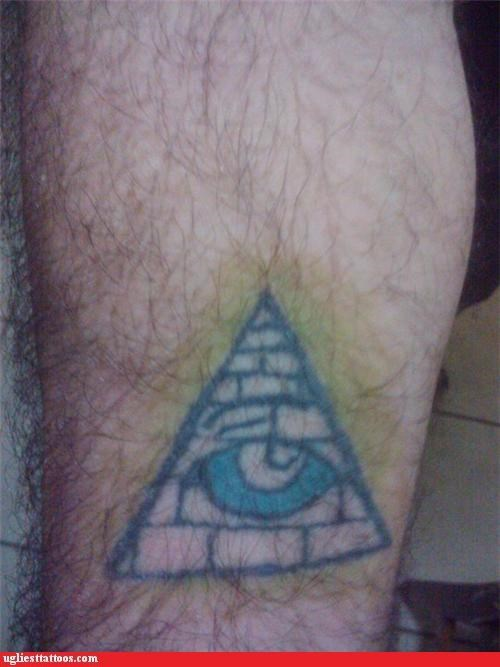 illuminati pyramids tattoos funny - 4580958976