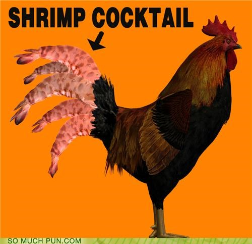 chicken,cocktail,literalism,shrimp