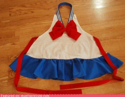 anime apron cooking costume sailor moon - 4581326848