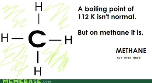 boiling point,methane,Not Even Once,science