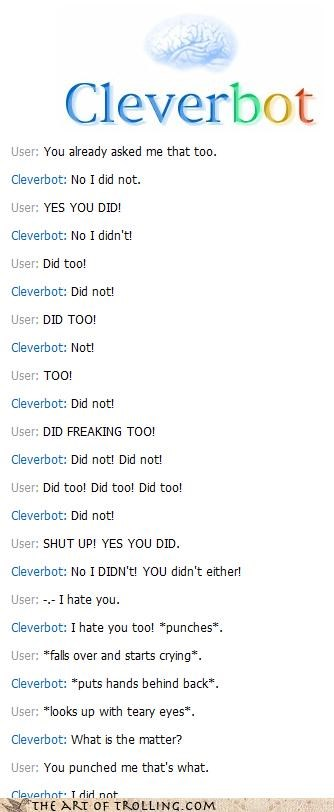 Cleverbot did too i did not hit her lisa oh hai mark the room tommy wiseau - 4581387520