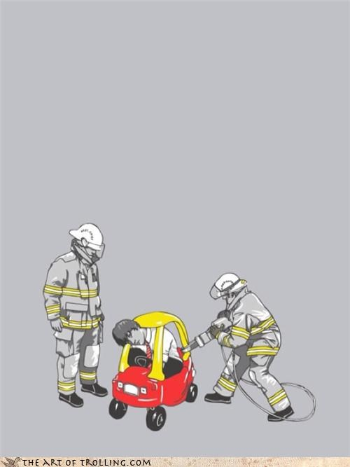 jaws of life,kid,roller car
