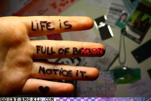bacon emo emolulz heart life wake up - 4581461248