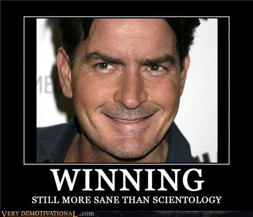 Charlie Sheen,scientology,winning