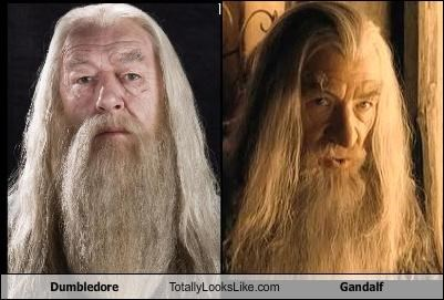 actors dumbledore gandalf Harry Potter Lord of the Rings movies richard harris Sir Ian McKellen wizards - 4582386944