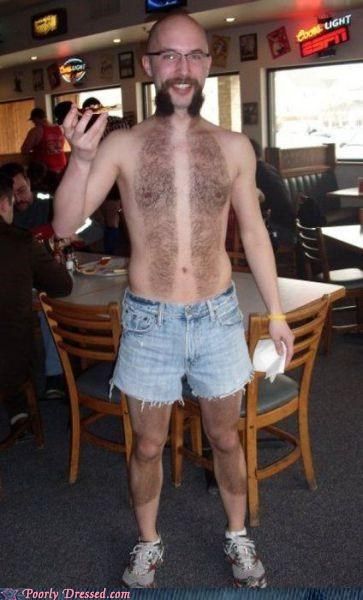 awesome,beard,hair,handlebars,mustache,shorts