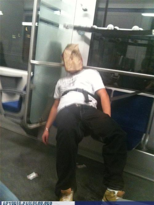 drunk passed out shoes Subway - 4582736896