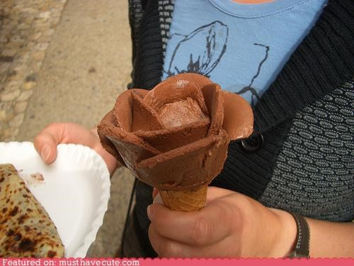 chocolate epicute ice cream rose - 4582766592