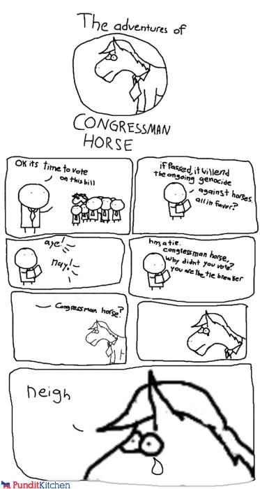 animals,aye,cartoons,Congress,horses,puns,vote