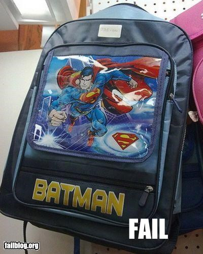 backpacks batman Brand Name FAILs classic failboat g rated knock offs super heros