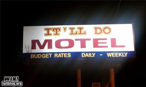 awesome at work,business name,motel,movie reference