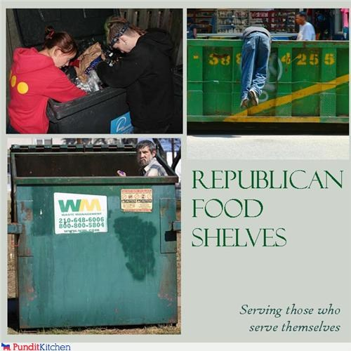 conservatives dumpsters garbage poor people Republicans - 4583609344