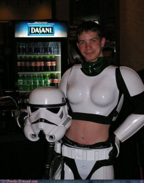 celebration,cosplay,costume,cross dresser,star wars,stormtrooper,weird