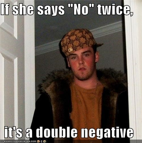 double negative no-no-yes no means nom - 4584447744
