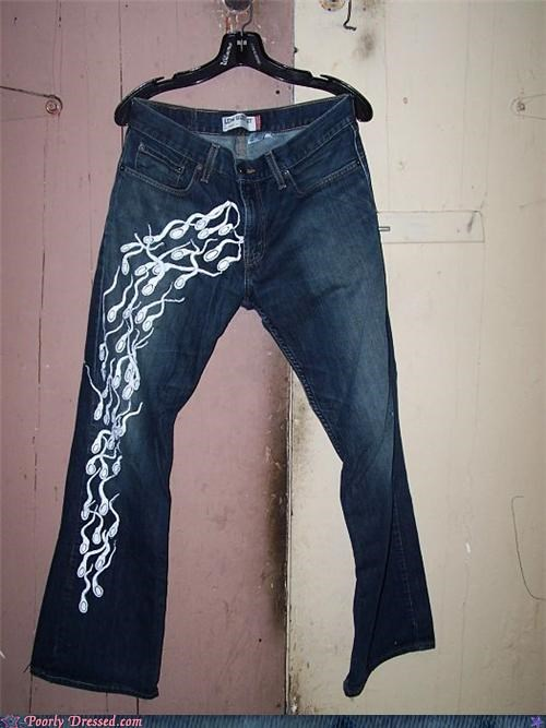jeans pants sperm tadpole weird - 4585270016