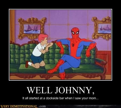 bar,Spider-Man,story,your mom