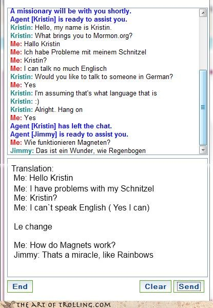 english german hero miracles Mormon Chat rainbows schnitzel - 4585420032