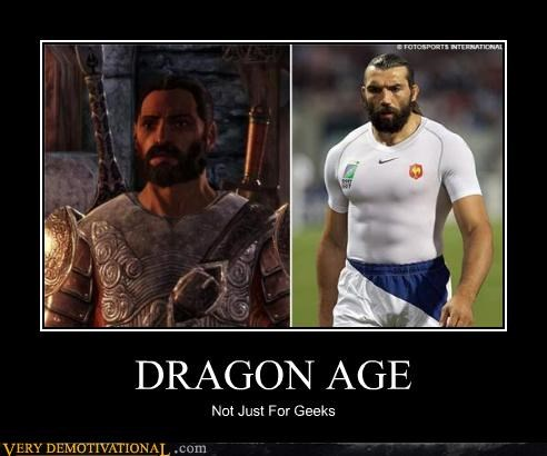 awesome beard dragon age soccer
