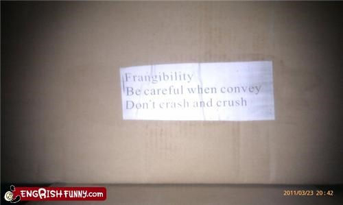engrish fragile package - 4585638912