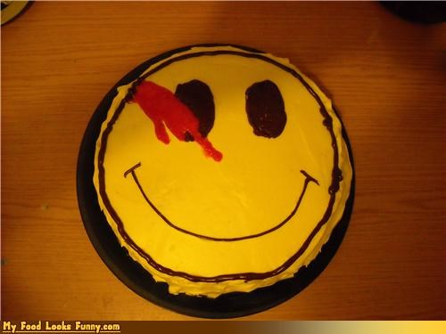 Blood,cake,smiley,watchmen