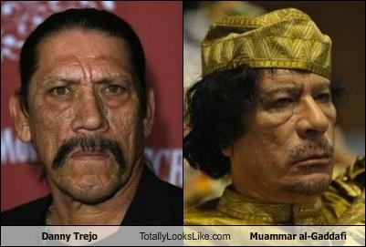 actors,Danny Trejo,dictators,libya,muammar al-gaddafi