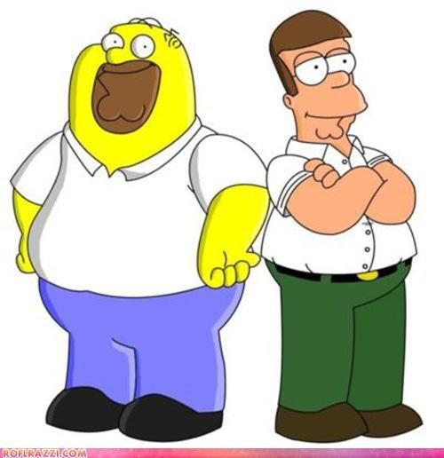 animation Hall of Fame homer simpson mashup Peter Griffin - 4586177536