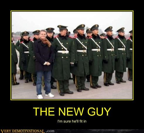 Awkward military new guy