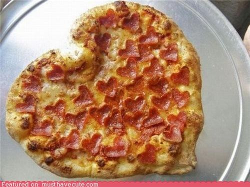 cheese,epicute,hearts,love,pepperoni,pizza