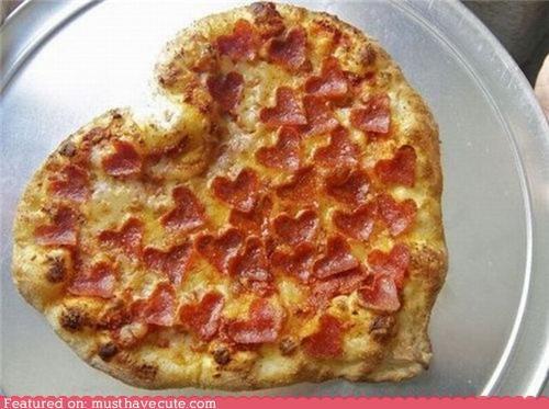 cheese epicute hearts love pepperoni pizza - 4586316544