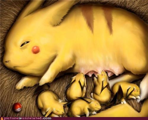 pikachu Pokémon teats wtf - 4586608384