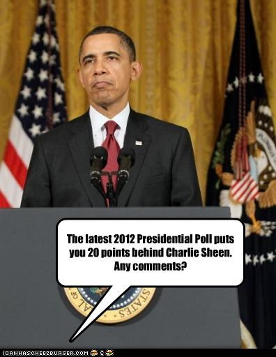 2012 barack obama Charlie Sheen poll presidents