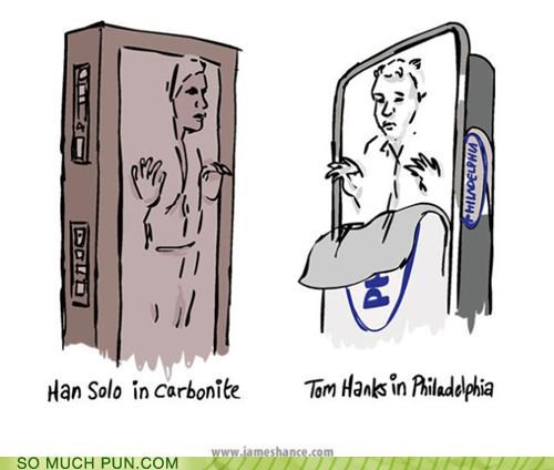 can carbonite container double meaning Hall of Fame Han Solo literalism philadelphia resemblance tom hanks