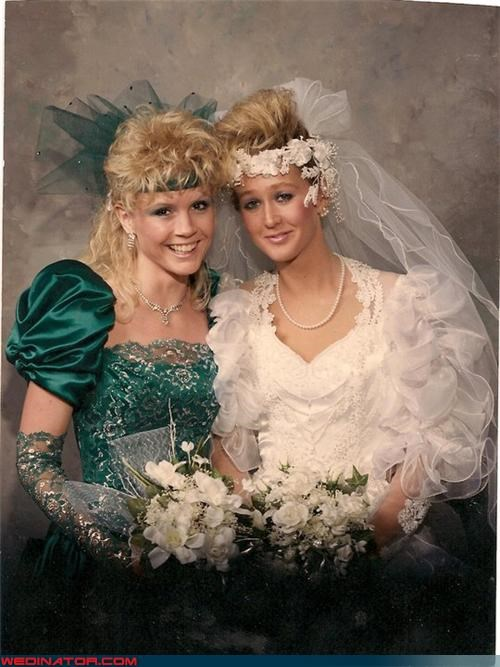 80s bride fashion funny wedding photos - 4587314432