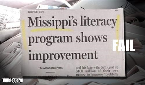 Mississippi: Showing Improvement... Newspaper article