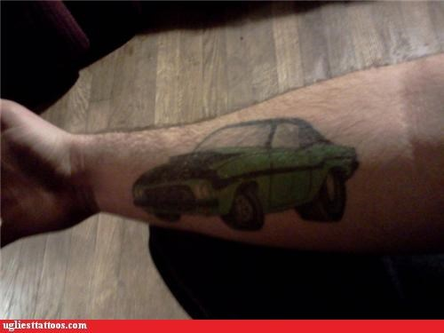 Hot Wheels cars tattoos funny - 4588069632