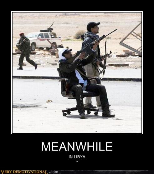 lybia,office chair,rebels,wtf