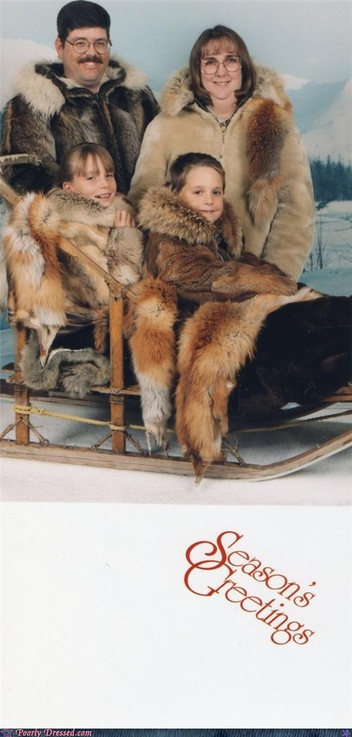 Awkward,family,fur,Photo,sled,weird,wtf