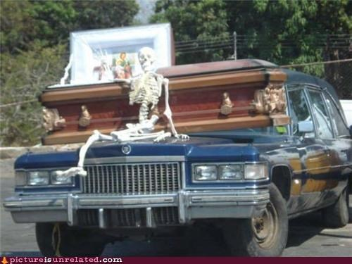 coffin funeral home hearse skeleton - 4588311552