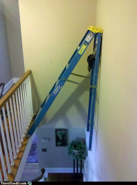 dangerous,home repair,ladders,painting,safety first