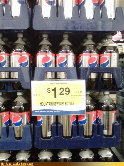 label fail,mountain dew,oops,pepsi,store