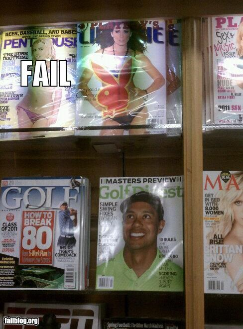 failboat,juxtaposition,magazine,poor planning,Tiger Woods