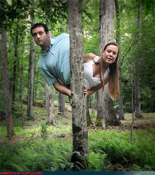 cartoons engagement photos funny wedding photos tree - 4589232640