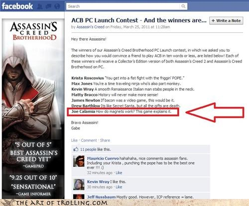 assassins creed,contest,facebook,magnets