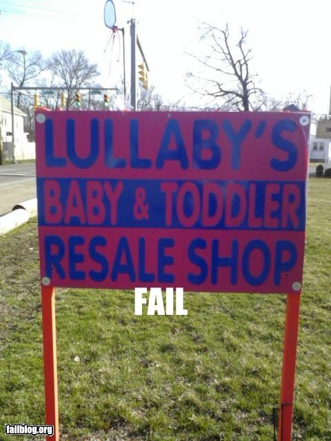 Babies,failboat,g rated,misleading,new-used,not what they meant,resale,signs