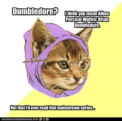 dumbledore Harry Potter Hipster Kitty so mainstream - 4589693440