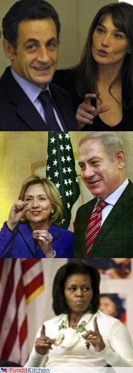 barack obama,benjamin netanyahu,Carla Bruni-Sarkozy,Michelle Obama,Nicolas Sarkozy,penis,size