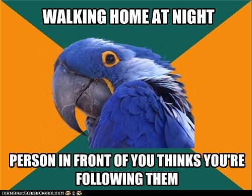 following in front Paranoid Parrot stalker - 4589830656