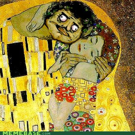 accidentally learning,Gustav Klimt,painting,The Kiss,Vienne Secessionist