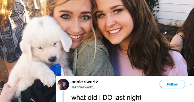 Hungover girl in college wakes up to a nightmare text involving goats.